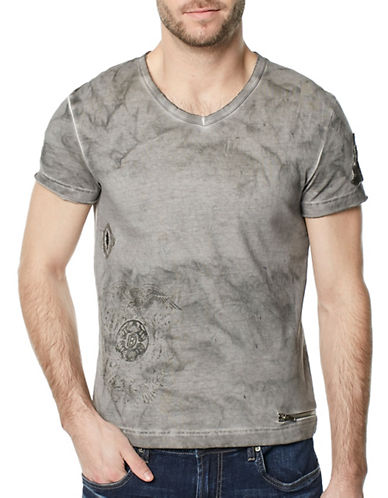 Buffalo David Bitton Kuzoom Washed Tee-GREY-Medium