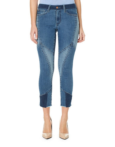 Buffalo David Bitton Faith Patchwork Ankle-Length Jeans-FIZZ-32