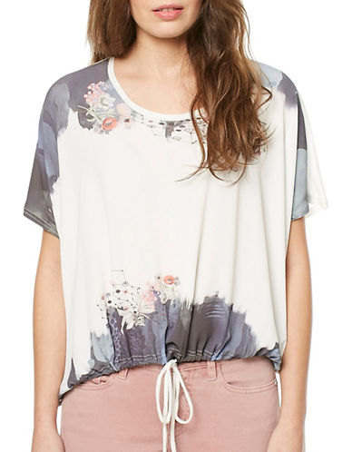 Buffalo David Bitton Paint Bird Tee-WHITE-Small