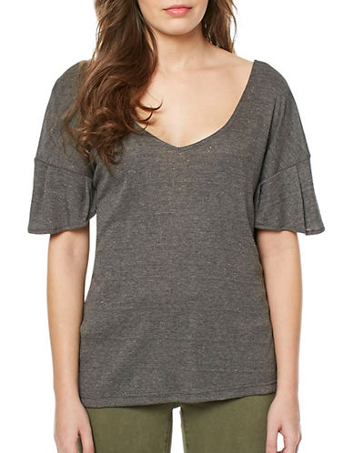 Buffalo David Bitton Adley Knit Top-CHARCOAL-Medium