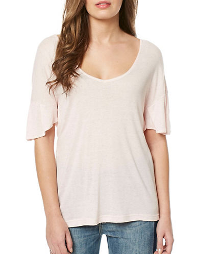 Buffalo David Bitton Adley Knit Top-PEACHSKIN-Small