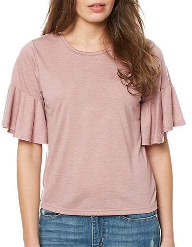 Buffalo David Bitton Ugh Knit Top-HEATHERED MAUVE-Large