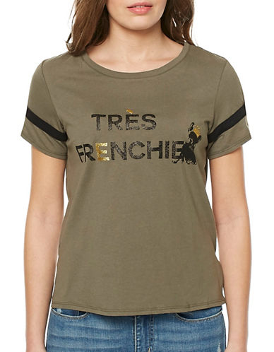 Buffalo David Bitton Tres-Frenchie Knit Top-LIGHT OLIVE-Large