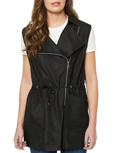 Buffalo David Bitton Neville Woven Vest-BLACK-X-Small