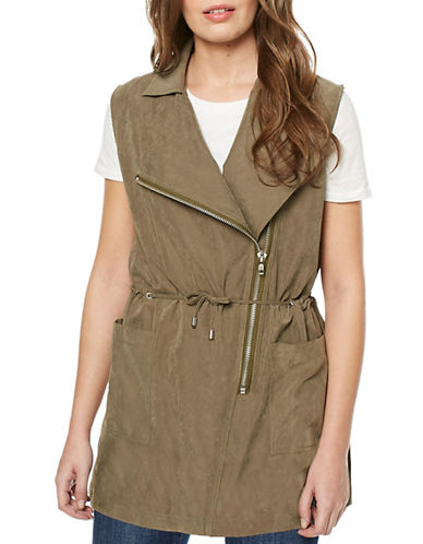Buffalo David Bitton Neville Woven Vest-LIGHT OLIVE-Large