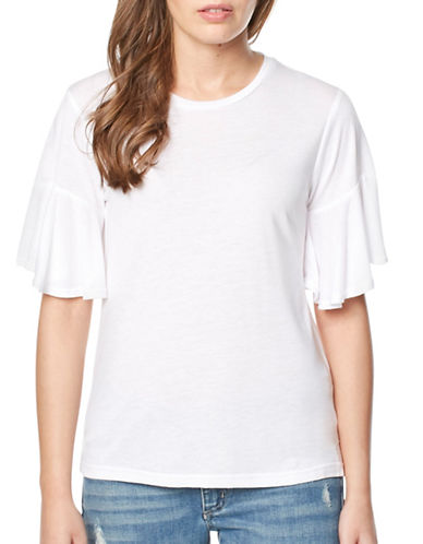 Buffalo David Bitton Ugh Knit Top-WHITE-Small