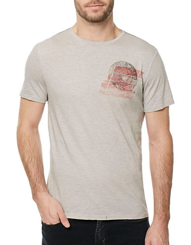Buffalo David Bitton Tilic Graphic T-Shirt-GREY-X-Large