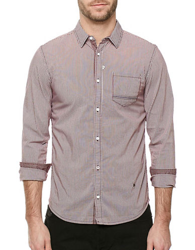 Buffalo David Bitton Savans Seersucker Shirt-PURPLE-X-Large