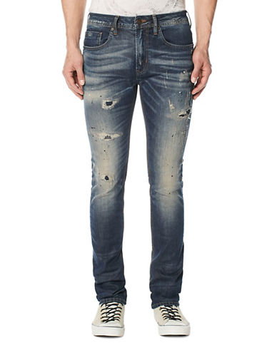 Buffalo David Bitton Max-X Distressed Jeans-BLUE-33X32