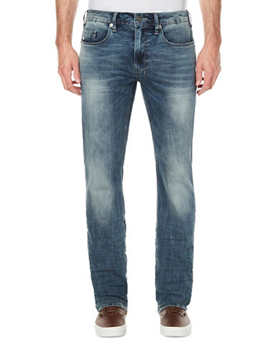 Buffalo David Bitton Evan Slim-Fit Faded Jeans-BLUE-34X32