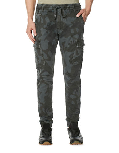 Buffalo David Bitton Camouflage Fleece Pants-GREY-32