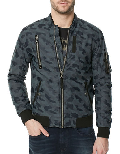 Buffalo David Bitton Jagona Camo Bomber-GREY-Medium