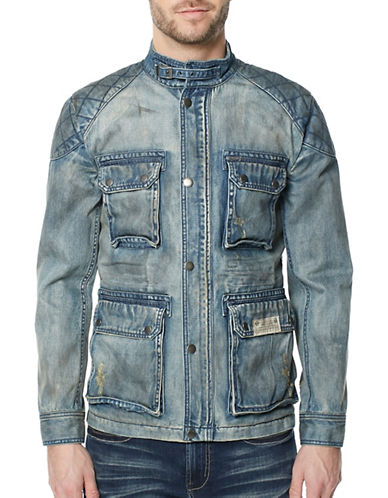 Buffalo David Bitton Jistanzi Cotton Denim Jacket-BLUE-Medium 89438640_BLUE_Medium