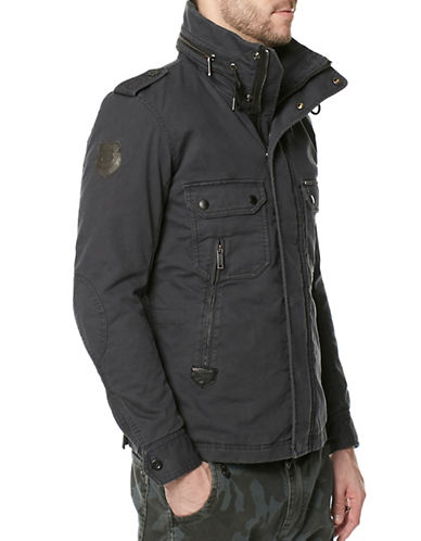 Buffalo David Bitton Double Closure Ottoman Jacket-BLACK-Small