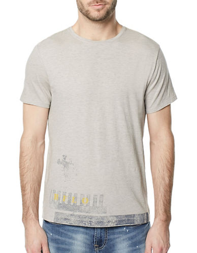 Buffalo David Bitton Taleg Crew Neck Tee-GREY-Medium