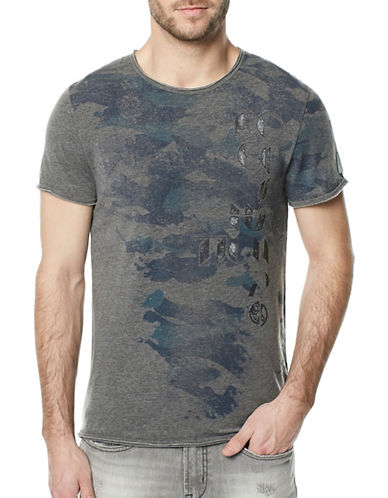 Buffalo David Bitton Tarun Crew Neck Tee-BLACK-Large