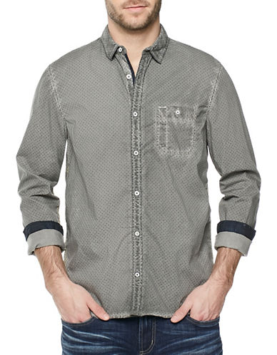 Buffalo David Bitton Sanuto Casual Button-Down Shirt-GREY-Small