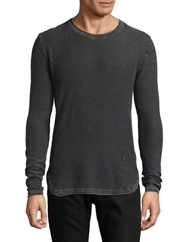 Buffalo David Bitton Wacity Cotton Sweater-CHARCOAL-Large