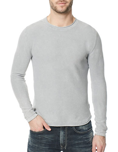 Buffalo David Bitton Wacity Cotton Sweater-GREY-Small