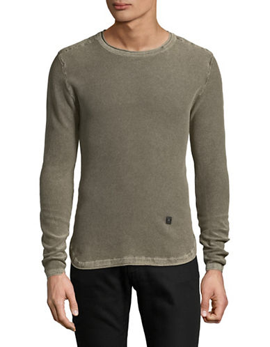 Buffalo David Bitton Wacity Cotton Sweater-BROWN-Large