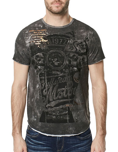 Buffalo David Bitton Graphic Cotton Tee-GREY-Large