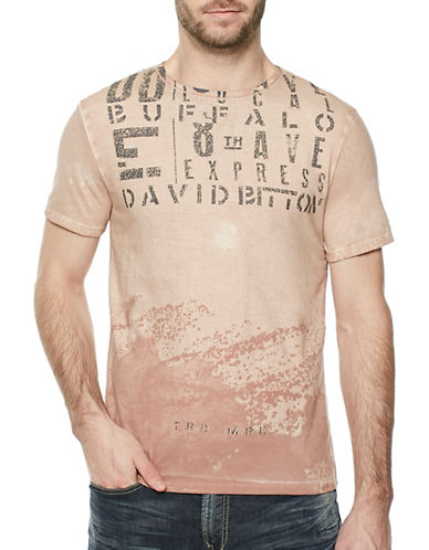 Buffalo David Bitton Spray Print T-Shirt-RED-X-Large
