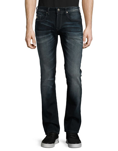Buffalo David Bitton Max-X Bootcut Jeans-BLUE-34X32