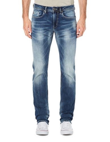 Buffalo David Bitton Faded Jeans-INDIGO-36X32