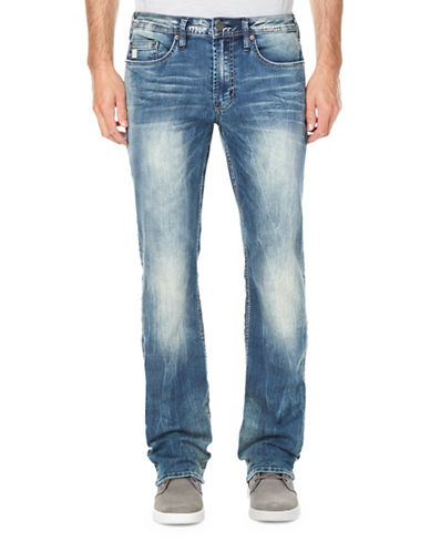 Buffalo David Bitton Sandblasted Straight-Leg Jeans-BLUE-34X32