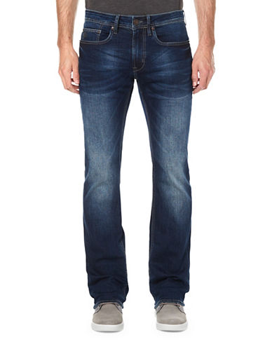 Buffalo David Bitton Super Stretch Slim Boot Jeans-BLUE-33X32