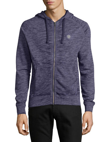 Buffalo David Bitton Fasum Zip Hoodie-BLUE-Medium