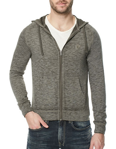Buffalo David Bitton Fasum Zip Hoodie-GREY-Large