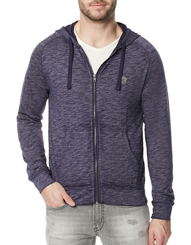 Buffalo David Bitton Fasum Zip Hoodie-PURPLE-Large