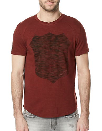 Buffalo David Bitton Kalax V-Neck Tee-RED-XX-Large