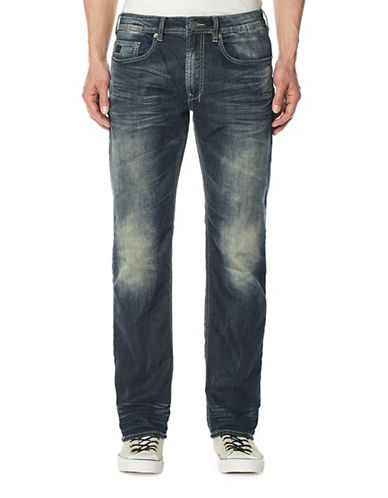 Buffalo David Bitton Fred-X Fleece Jeans-BLUE-36X32