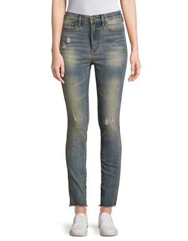 Buffalo David Bitton Ivy Ripped Skinny Jeans-BLUE-26