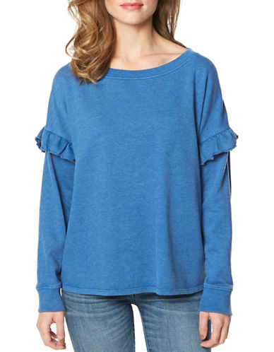 Buffalo David Bitton Roundneck Top-COBALT-Small