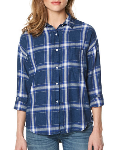 Buffalo David Bitton Plaid Button-Down Shirt-NAUTICAL PLAID-X-Large
