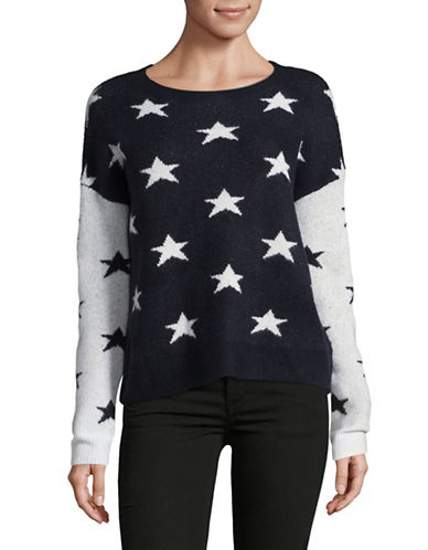 Buffalo David Bitton Star-Print Long Sleeve Sweater-BLUE-Small