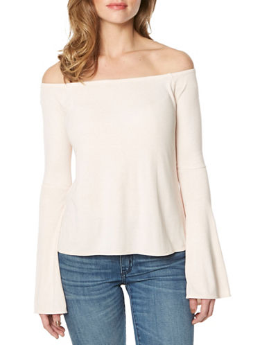 Buffalo David Bitton Off-Shoulder Knit Top-HARMONY-Medium