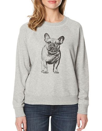 Buffalo David Bitton French Bulldog Print Long-Sleeve Top-HTR. GREY-Large