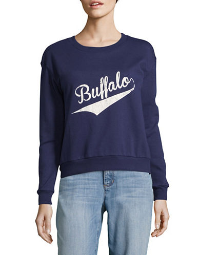 Buffalo David Bitton Viva Crew Neck Sweatshirt-BLUE-Small