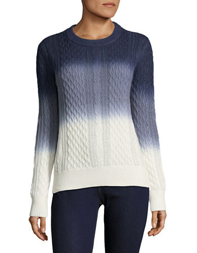 Buffalo David Bitton Cable Knit Sweater-BLUE MULTI-Small