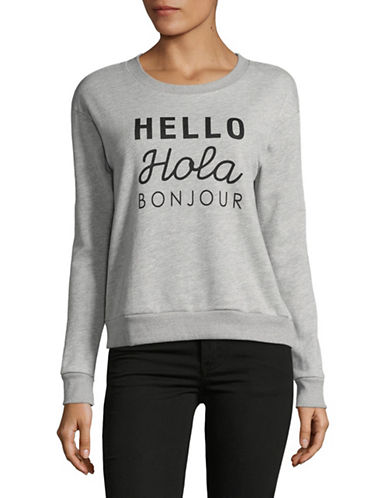 Buffalo David Bitton Hola Round Neck Sweatshirt-GREY-Medium