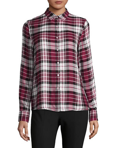 Buffalo David Bitton Travis Button-Down Shirt-RED PLAID-X-Small