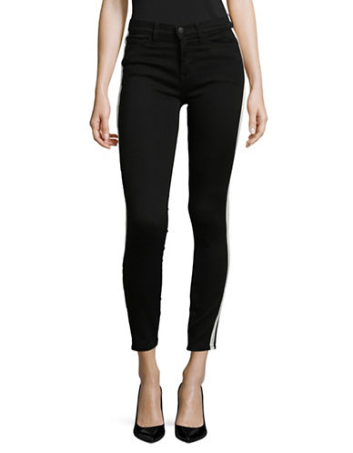 Buffalo David Bitton Faith Stripe Skinny Jeans-BLACK-30