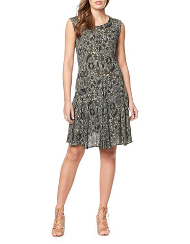Buffalo David Bitton Floral Woven Dress-FLORAL-X-Small