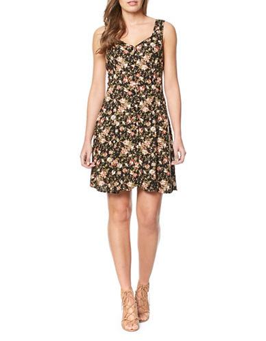 Buffalo David Bitton Floral V-neck Dress-FLORAL-Large