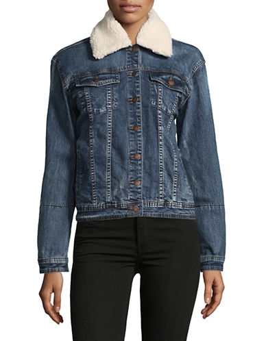 Buffalo David Bitton Nova Denim Jacket-BLUE-Medium