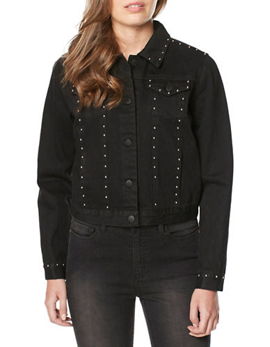 Buffalo David Bitton Embellished Button-Front Jacket-BLACK-Large